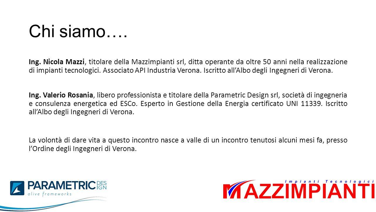 Chi siamo…. Ing. Nicola Mazzi, titolare della Mazzimpianti srl, ditta operante da oltre 50 anni nella realizzazione di impianti tecnologici. Associato