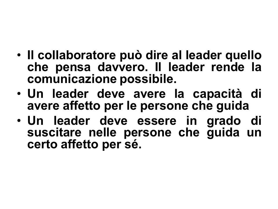 Il collaboratore può dire al leader quello che pensa davvero.
