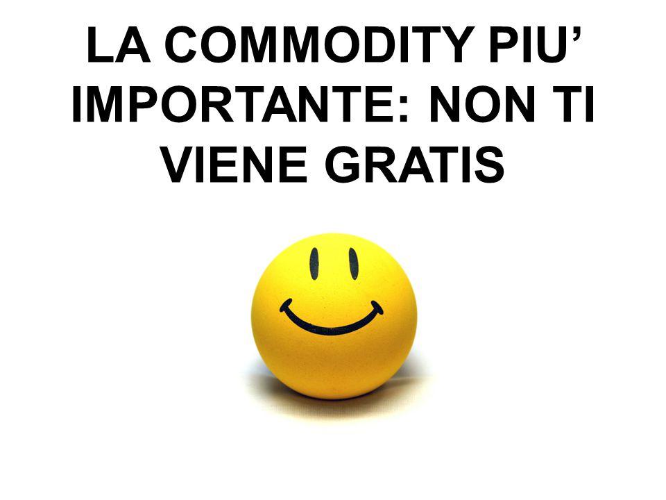 56 LA COMMODITY PIU' IMPORTANTE: NON TI VIENE GRATIS