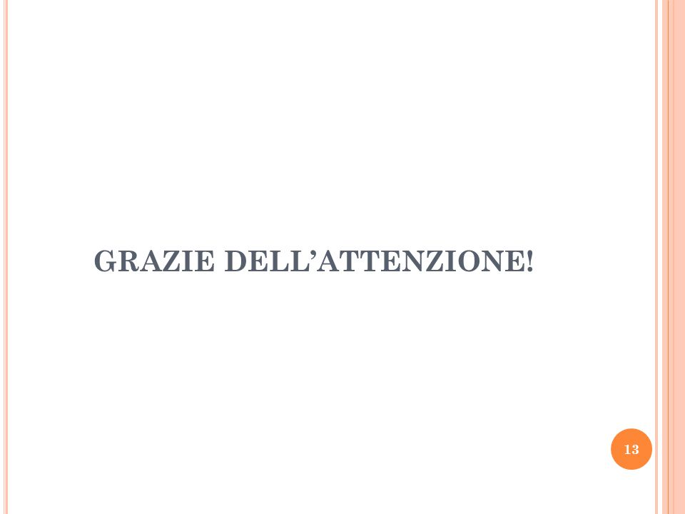 GRAZIE DELL'ATTENZIONE! 13