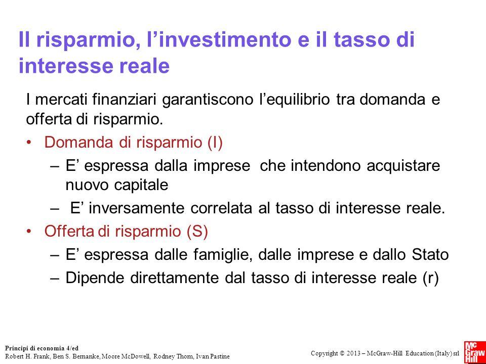 Copyright © 2013 – McGraw-Hill Education (Italy) srl Principi di economia 4/ed Robert H.