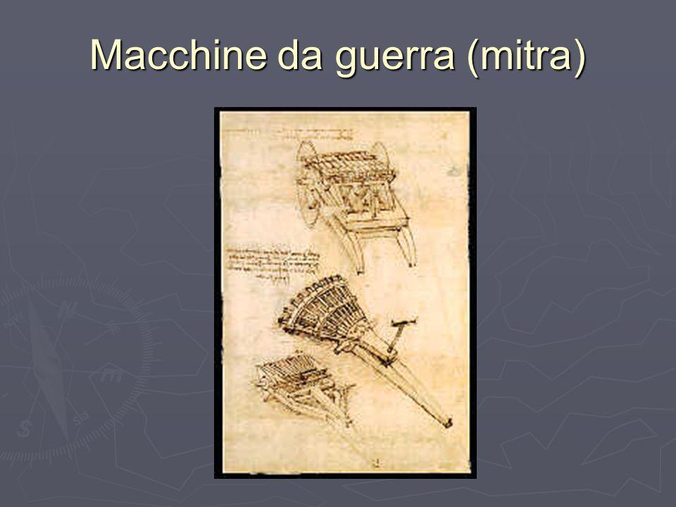 Palle e mortai I mortai progettati da Leonardo anticipano i moderni cannoni.