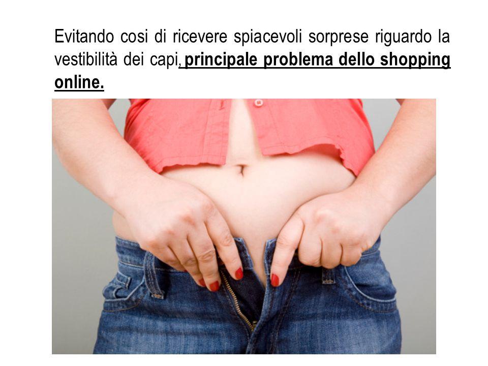 Evitando cosi di ricevere spiacevoli sorprese riguardo la vestibilità dei capi, principale problema dello shopping online.