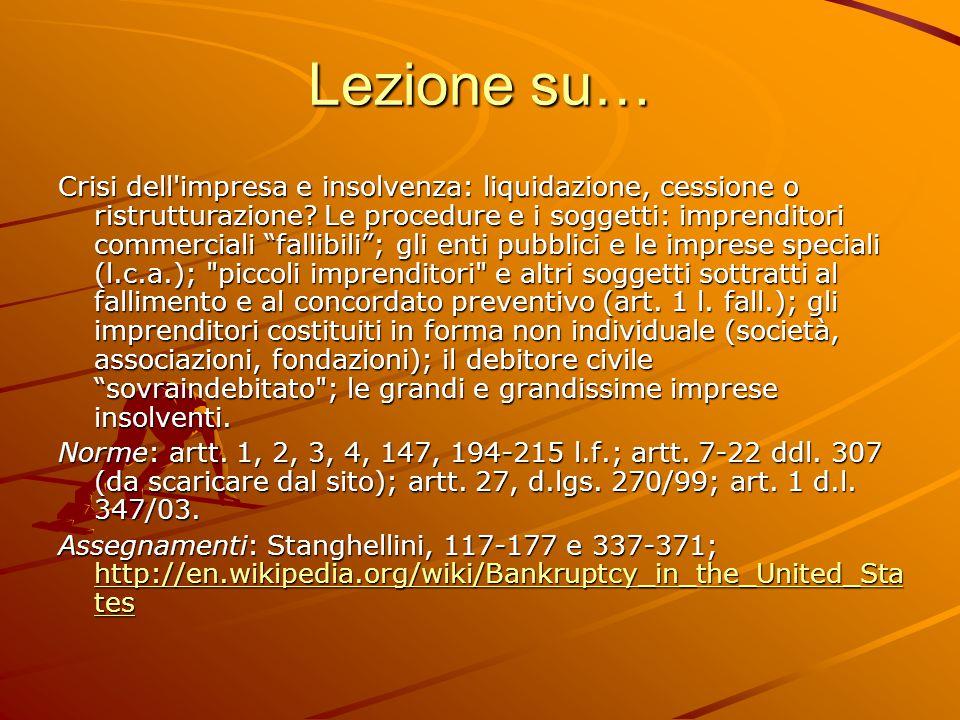 Crisi e insolvenza 5.Stato d insolvenza.