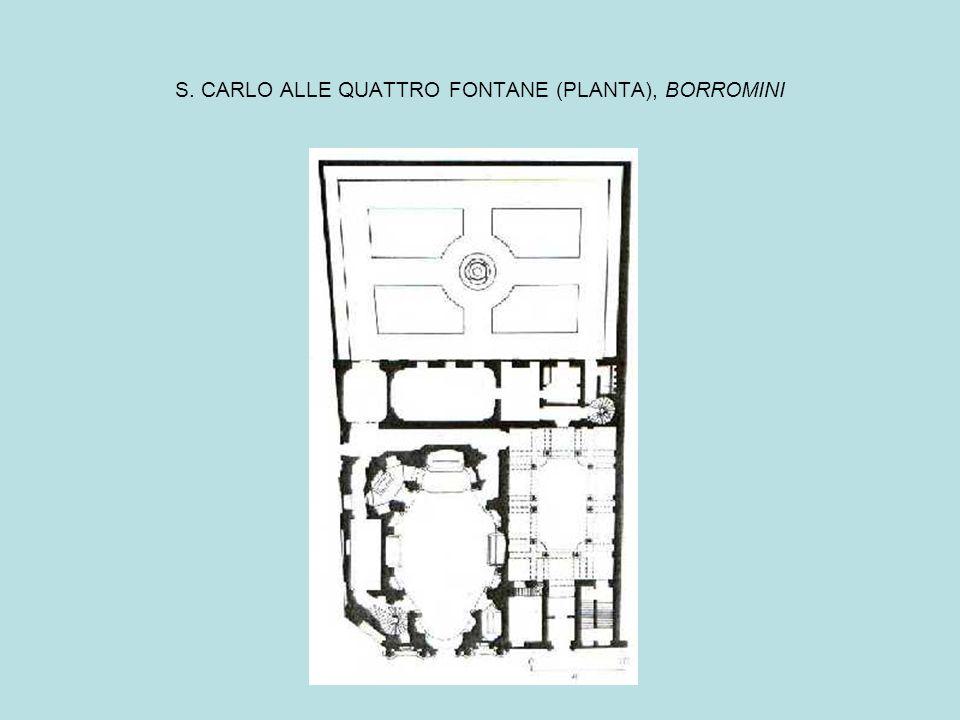 S. CARLO ALLE QUATTRO FONTANE (PLANTA), BORROMINI