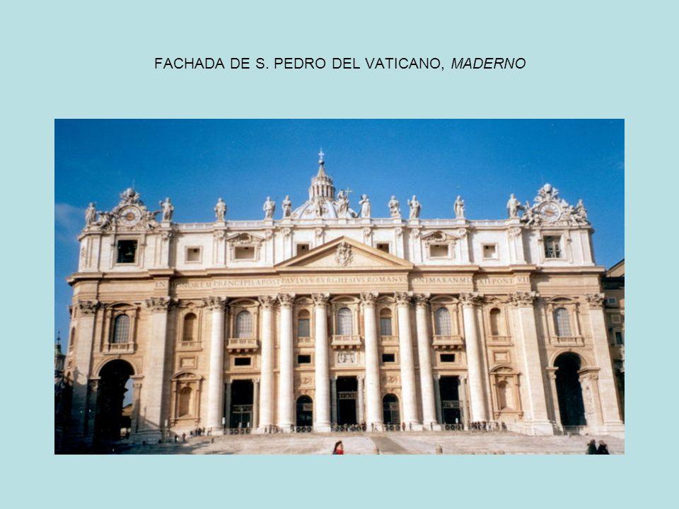 FACHADA DE S. PEDRO DEL VATICANO, MADERNO