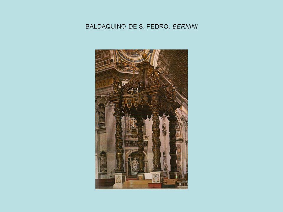 BALDAQUINO DE S. PEDRO, BERNINI