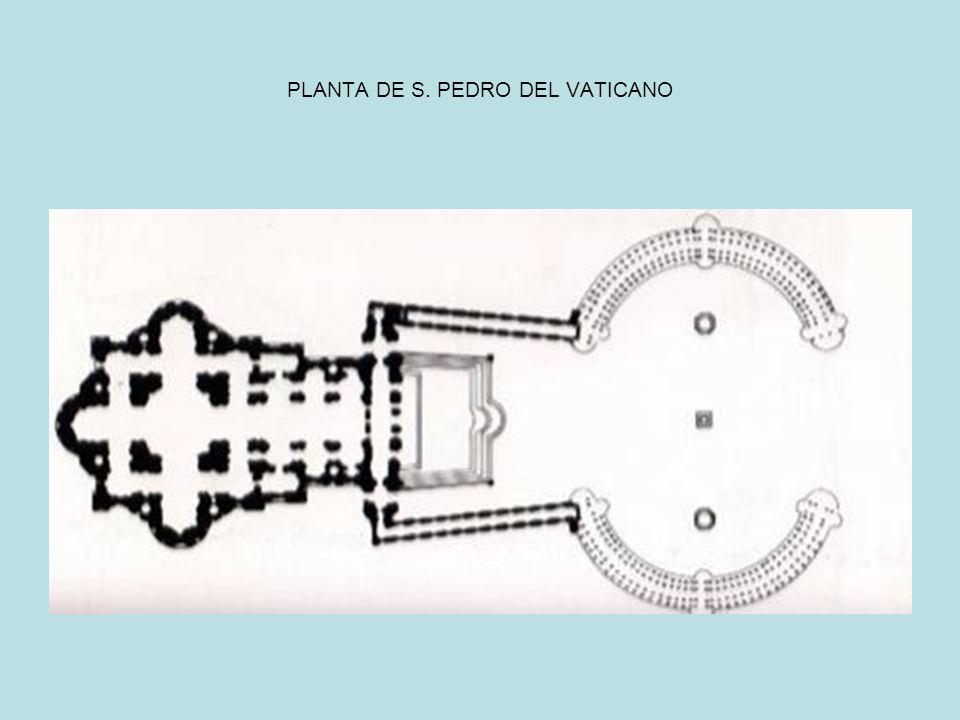PLANTA DE S. PEDRO DEL VATICANO