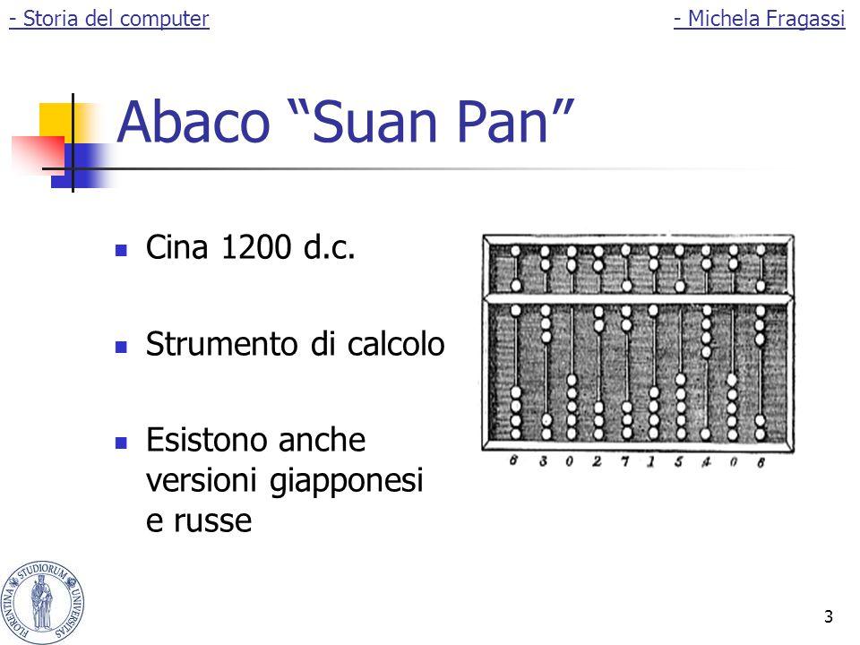 """3 Abaco """"Suan Pan"""" Cina 1200 d.c. Strumento di calcolo Esistono anche versioni giapponesi e russe - Storia del computer- Michela Fragassi"""