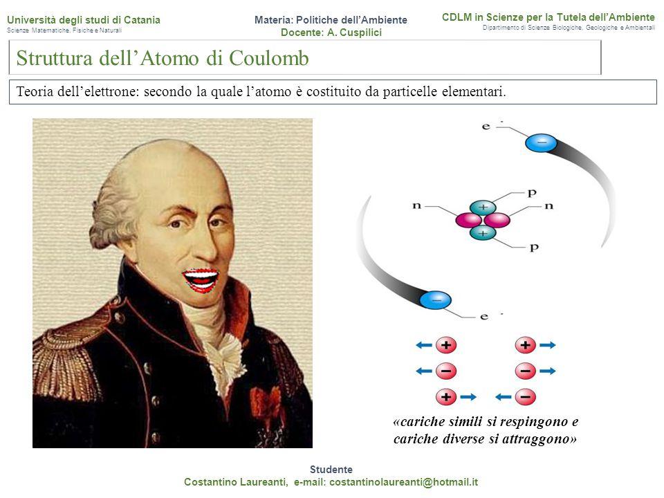 Conclusioni Studente Costantino Laureanti, e-mail: costantinolaureanti@hotmail.it Materia: Politiche dell'Ambiente Docente: A.