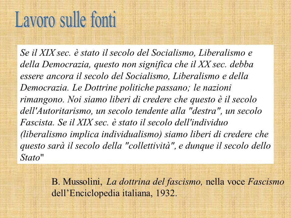 (Benito Mussolini, discorso tenuto al Senato il 27 novembre 1922).