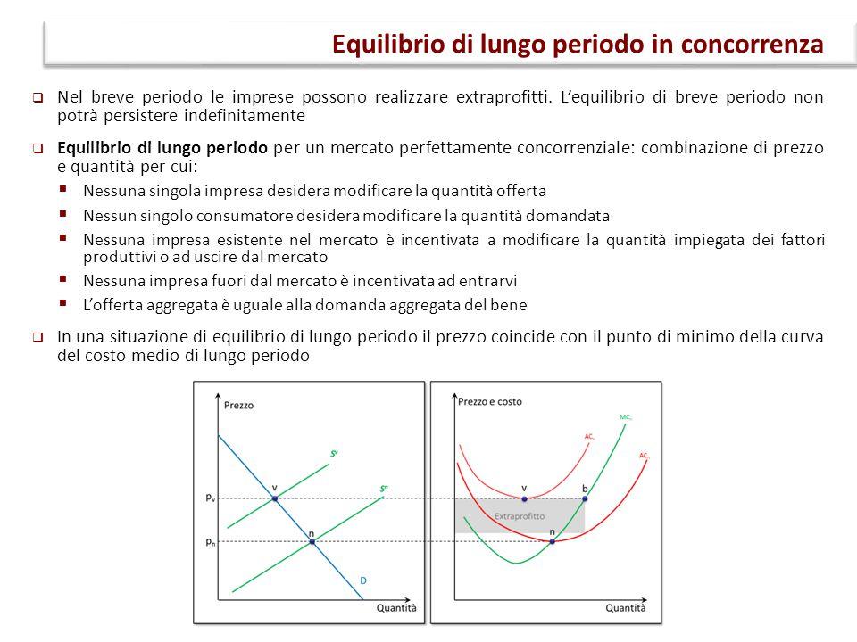  Economie di scala: al crescere della dimensione dell'impresa, i costi unitari diminuiscono.