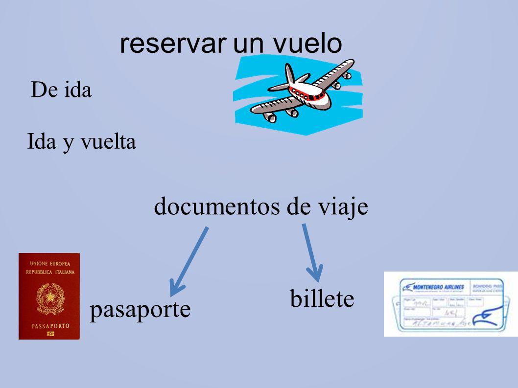 reservar un vuelo De ida Ida y vuelta documentos de viaje billete pasaporte