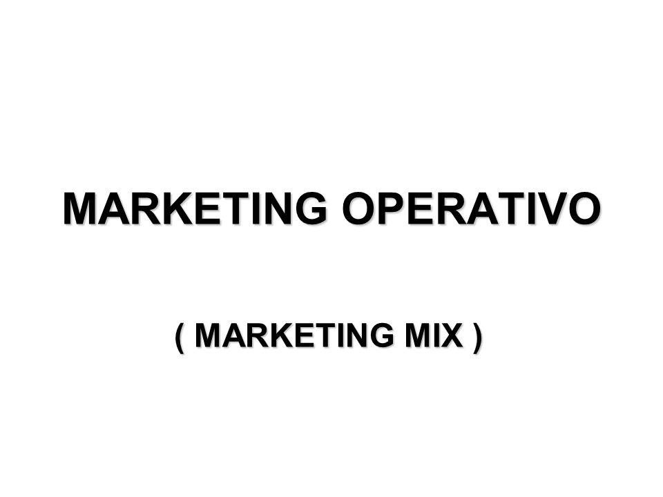Marketing operativo Dopo avere deciso le strategie di marketing, sarà opportuno, infine, renderle operative.