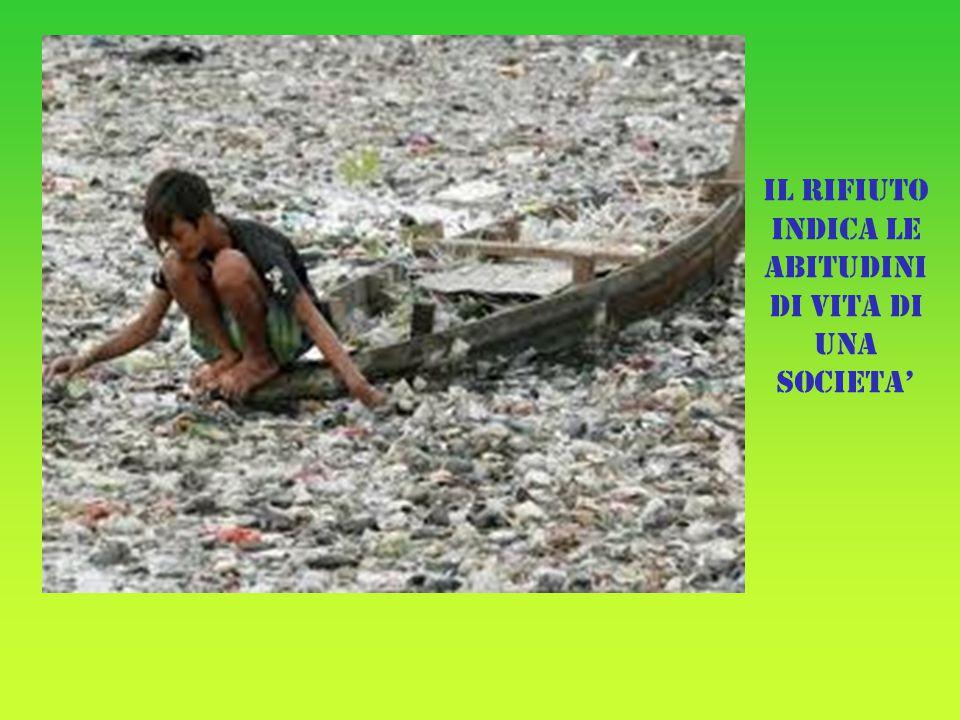 Il rifiuto indica le abitudini di vita di una societa'