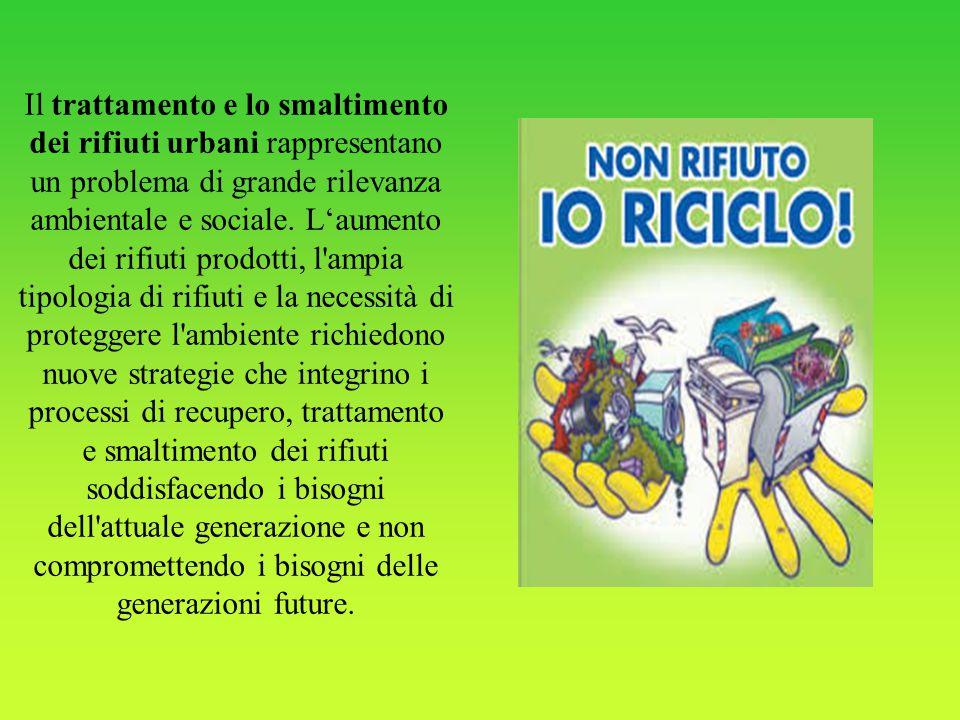 Il trattamento e lo smaltimento dei rifiuti urbani rappresentano un problema di grande rilevanza ambientale e sociale. L'aumento dei rifiuti prodotti,