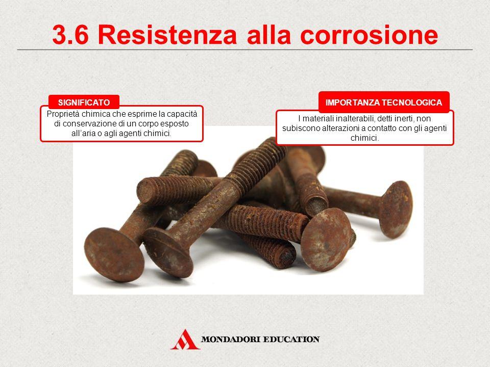 3.5 Conducibilità elettrica I metalli sono buoni conduttori. I materiali che invece si oppongono al passaggio della corrente (cioè hanno resistività)