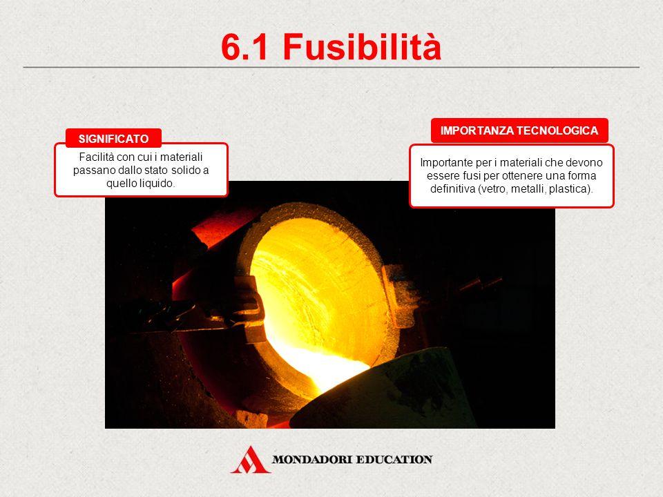 6. Le proprietà tecnologiche Fusibilità Saldabilità Duttilità Malleabilità Temprabilità