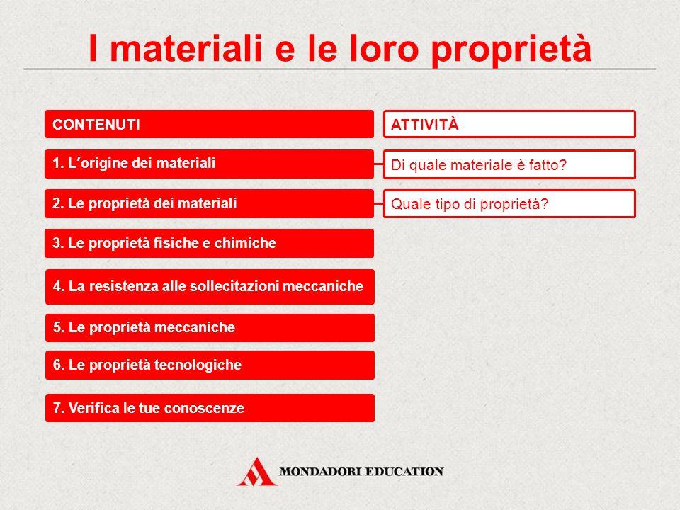 I materiali e le loro proprietà Materiali