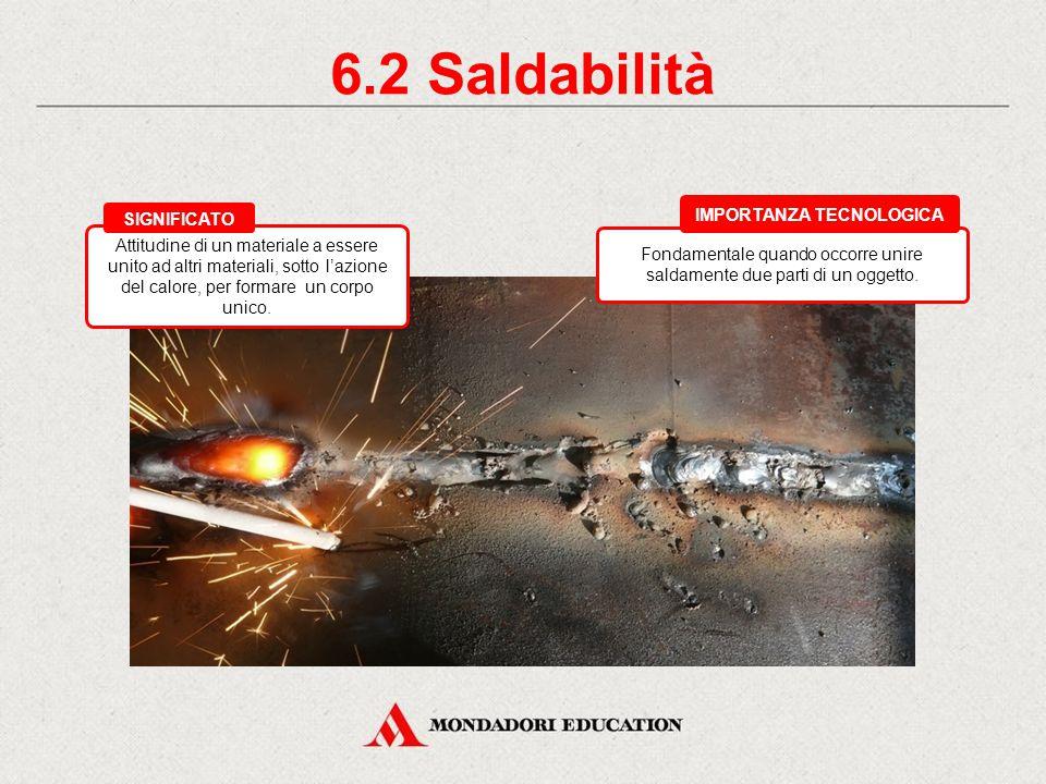 6.1 Fusibilità Importante per i materiali che devono essere fusi per ottenere una forma definitiva (vetro, metalli, plastica). IMPORTANZA TECNOLOGICA