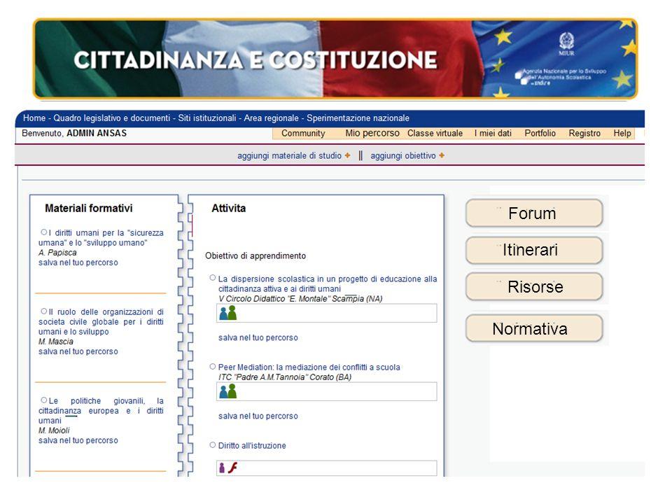 Forum Itinerari Risorse Normativa