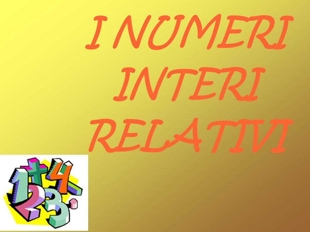 Se a partire dall insieme dei numeri naturali si introduce la differenza di segno, distinguendo tra numeri positivi e numeri negativi, si ottengono i numeri interi relativi, il cui insieme è indicato con il simbolo Z.