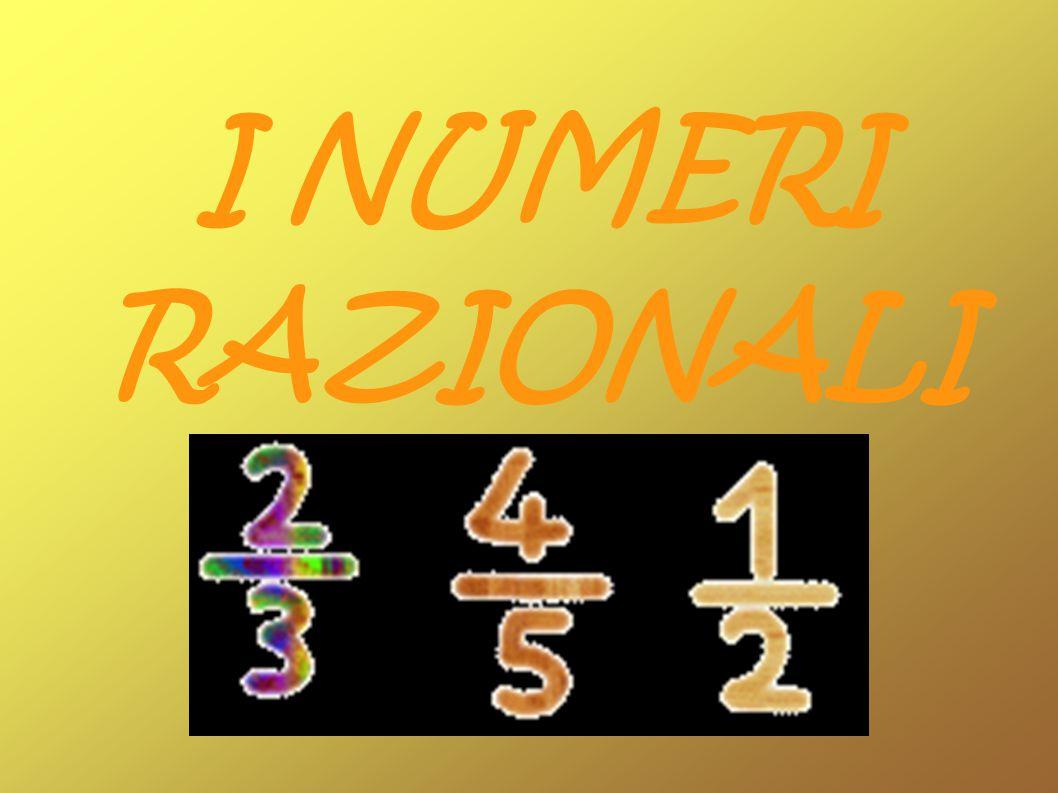 Se a partire dai numeri interi si costruiscono i numeri dati dal loro rapporto, si ottengono i numeri razionali, i quali sono quindi esprimibili tramite una frazione (ratio in latino, da cui il nome di numeri razionali ).