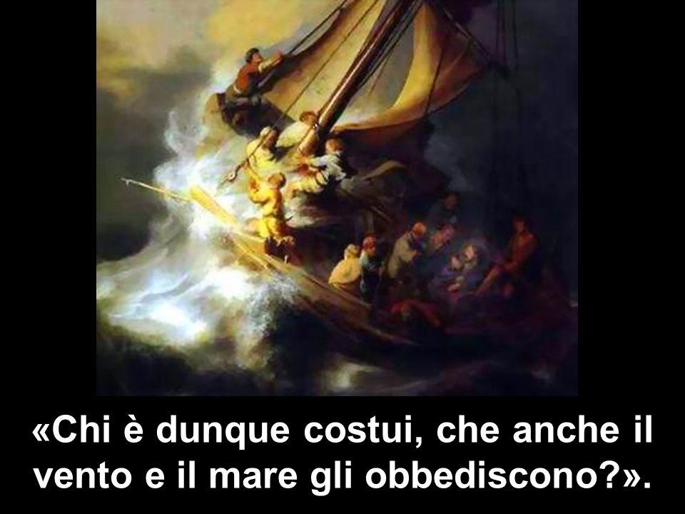 «Chi è dunque costui, che anche il vento e il mare gli obbediscono ».