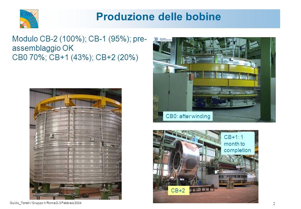 Guido_Tonelli / Gruppo 1/ Roma/2-3 Febbraio 2004 13 le prime 20 camere erano state montate con HVB non selezionate ed a questo lotto appartengono tutte le camere che hanno fallito.