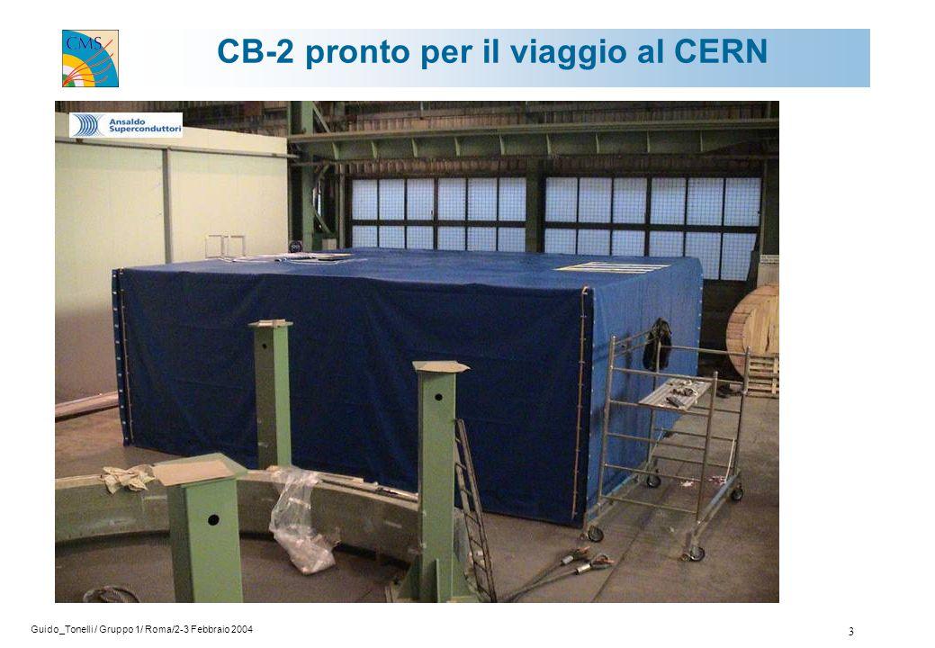 Guido_Tonelli / Gruppo 1/ Roma/2-3 Febbraio 2004 3 CB-2 pronto per il viaggio al CERN