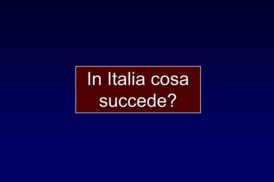 In Italia cosa succede?
