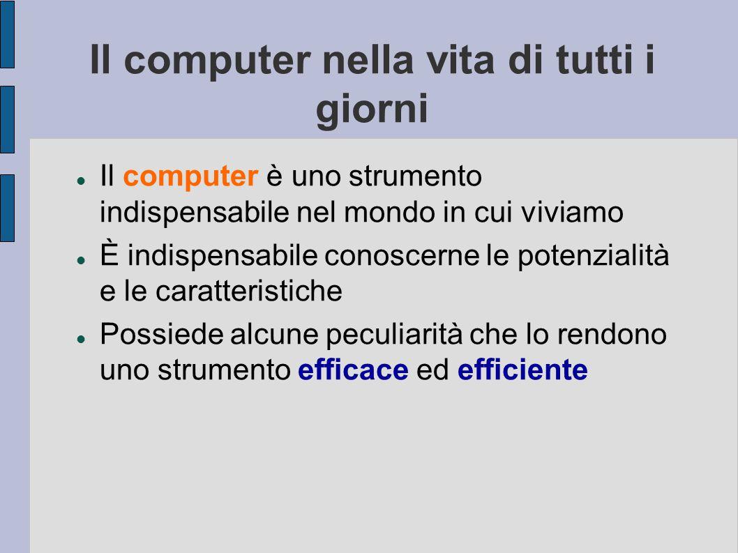 In questa lezione impareremo: a conoscere le parti che compongono un computer e come sono definite a conoscere le parti che compongono un computer e c