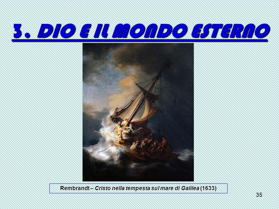 35 3. DIO E IL MONDO ESTERNO Rembrandt – Cristo nella tempesta sul mare di Galilea (1633)
