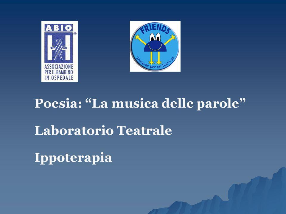 """Poesia: """"La musica delle parole"""" Laboratorio Teatrale Ippoterapia"""