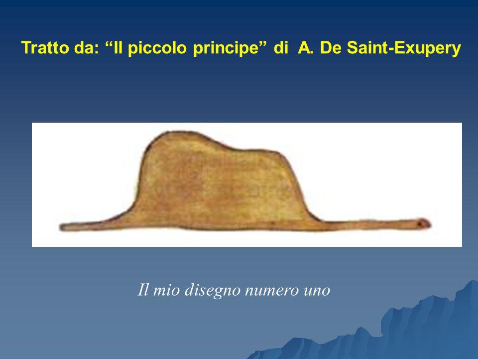 """Tratto da: """"Il piccolo principe"""" di A. De Saint-Exupery Il mio disegno numero uno"""