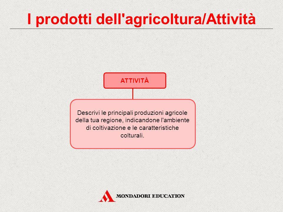 4. I prodotti dell'agricoltura LA FRUTTICOLTURA Le piante da frutto si dividono in due categorie: pomacee: i frutto sono pomi (come il melo e il pero)