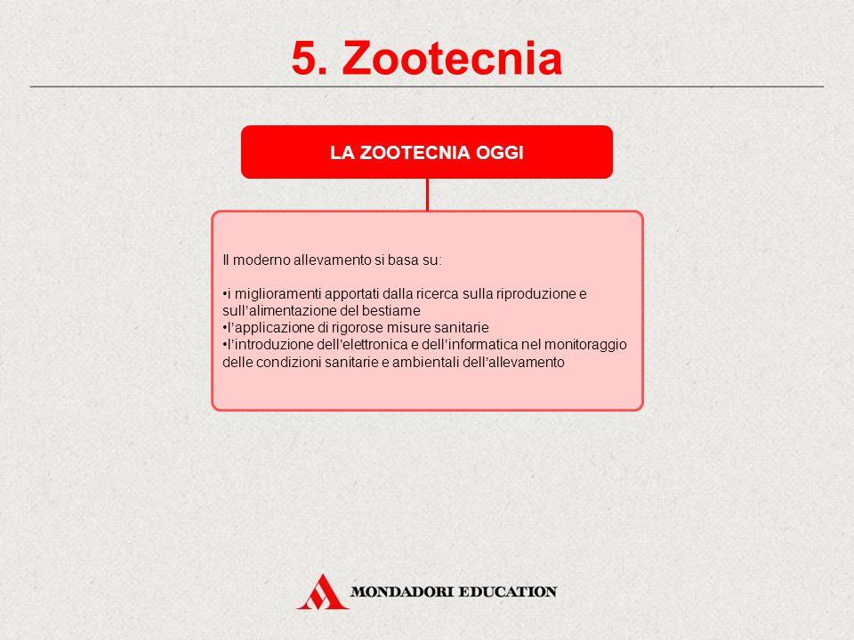 5. Zootecnia La zootecnia è l'insieme delle conoscenze e delle tecniche necessarie per allevare gli animali al fine di ottenere sia prodotti alimentar