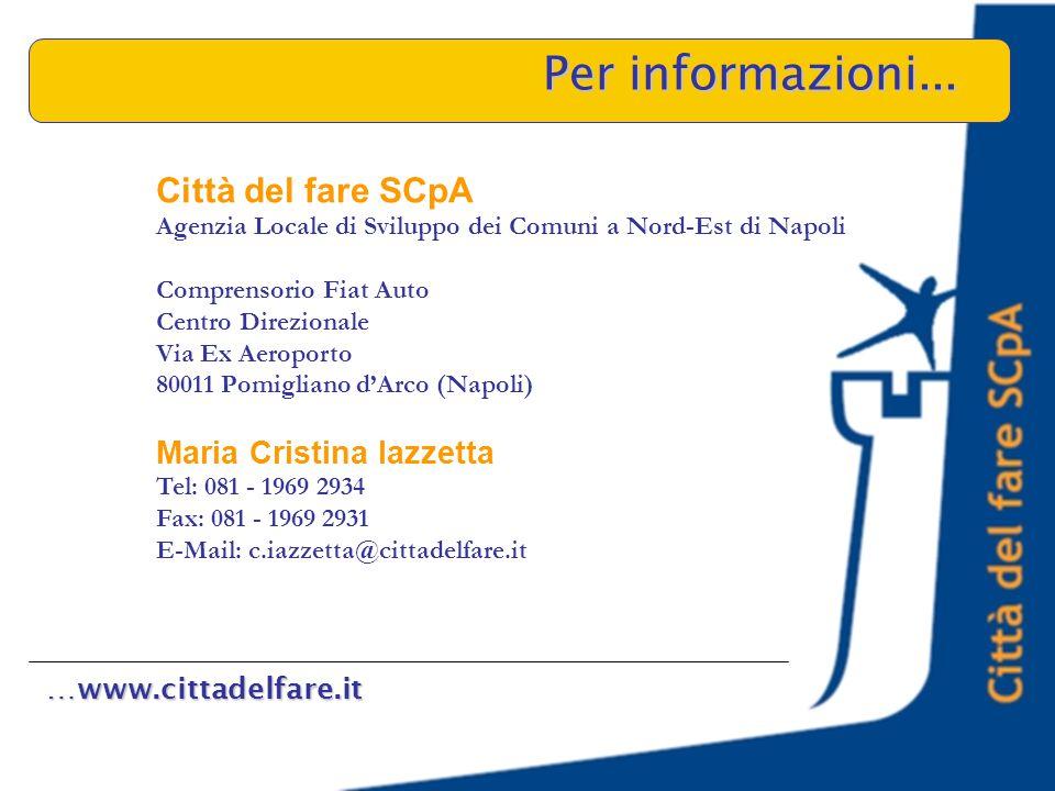 …www.cittadelfare.it Per informazioni...