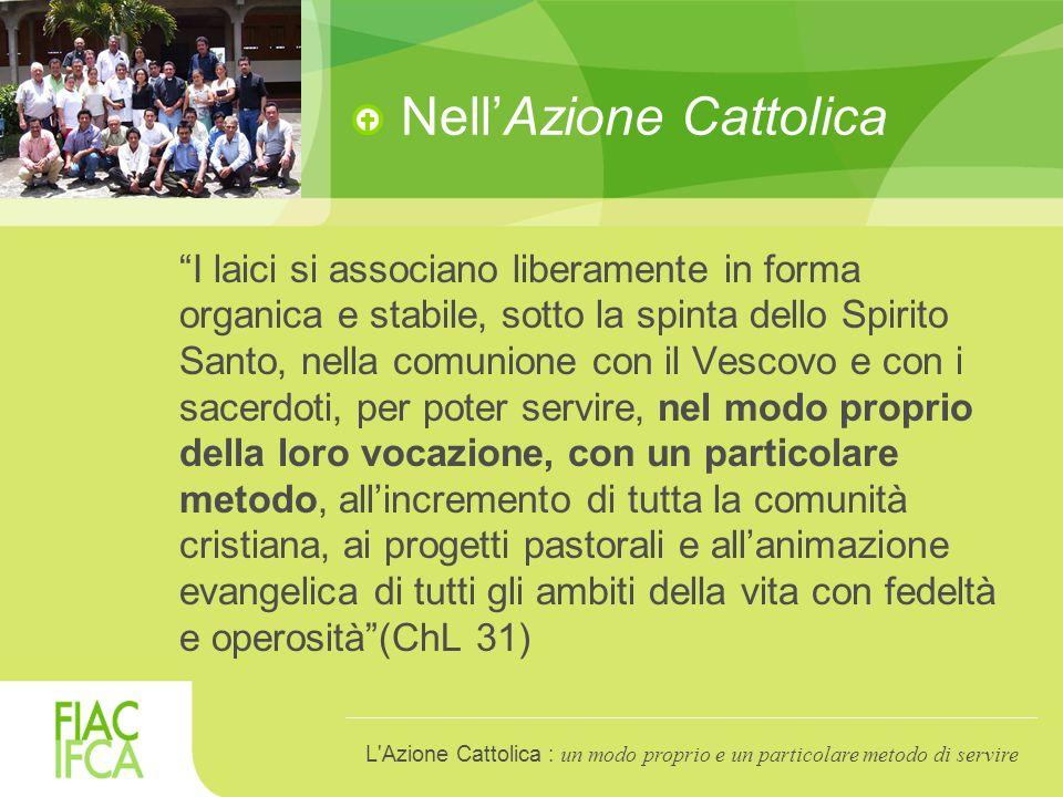 Azione Cattolica: un particolare metodo di servire Vedere, Giudicare, Agire, Celebrare: è un esercizio che favorisce l'unità tra fede e vita.