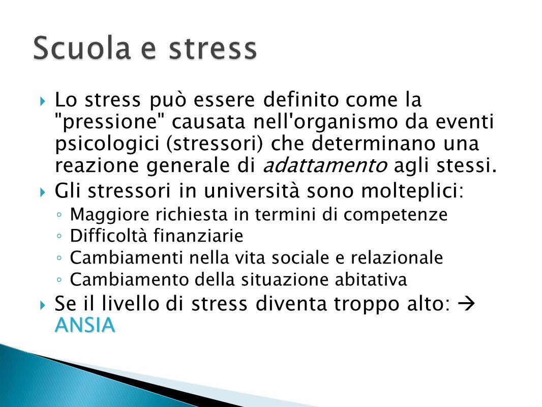  Lo stress può essere definito come la