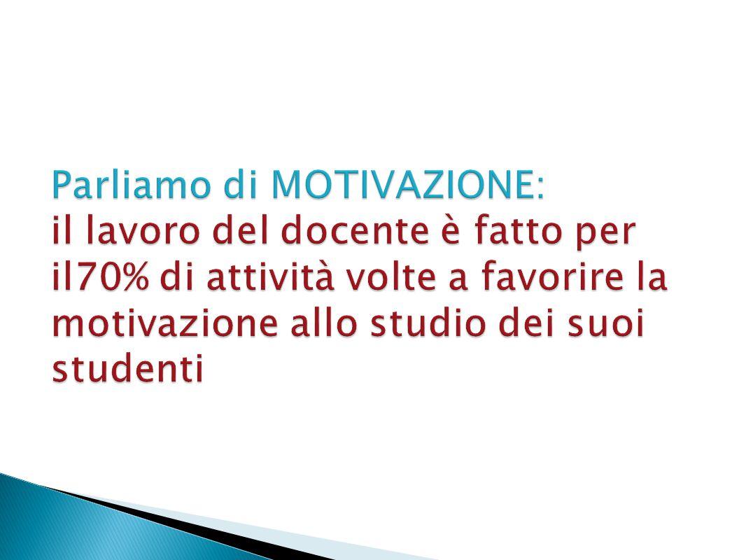 La motivazione nel processo di apprendimento…..Cos'è la motivazione.