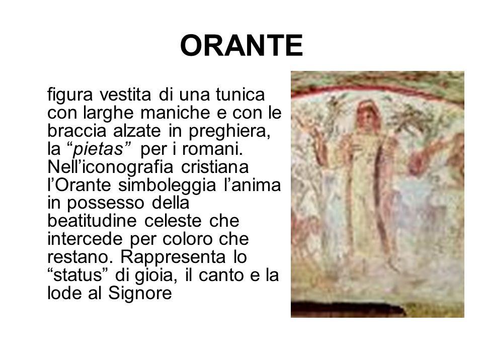 """ORANTE figura vestita di una tunica con larghe maniche e con le braccia alzate in preghiera, la """"pietas"""" per i romani. Nell'iconografia cristiana l'Or"""
