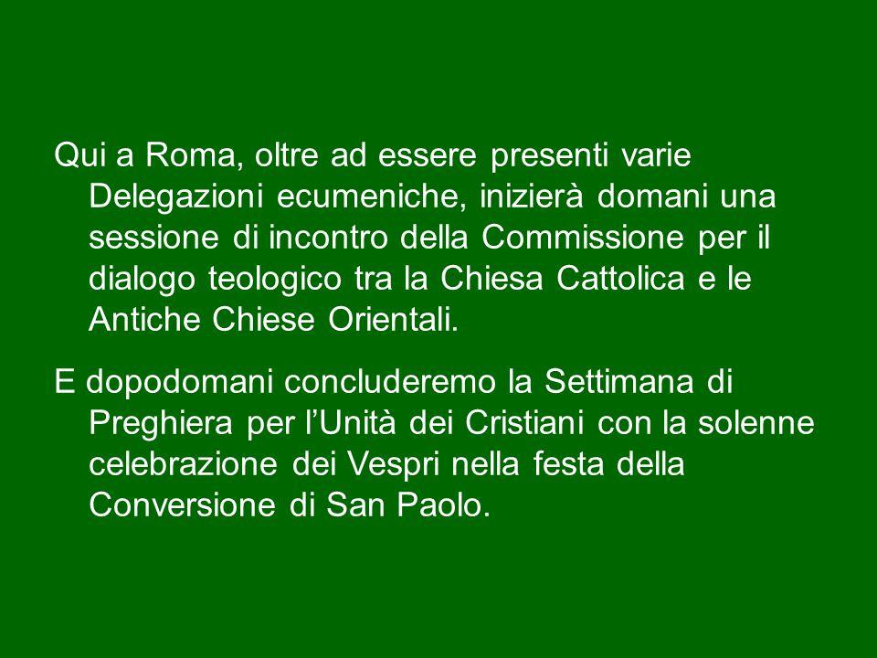 Il serio impegno di conversione a Cristo è la via che conduce la Chiesa, con i tempi che Dio dispone, alla piena unità visibile.