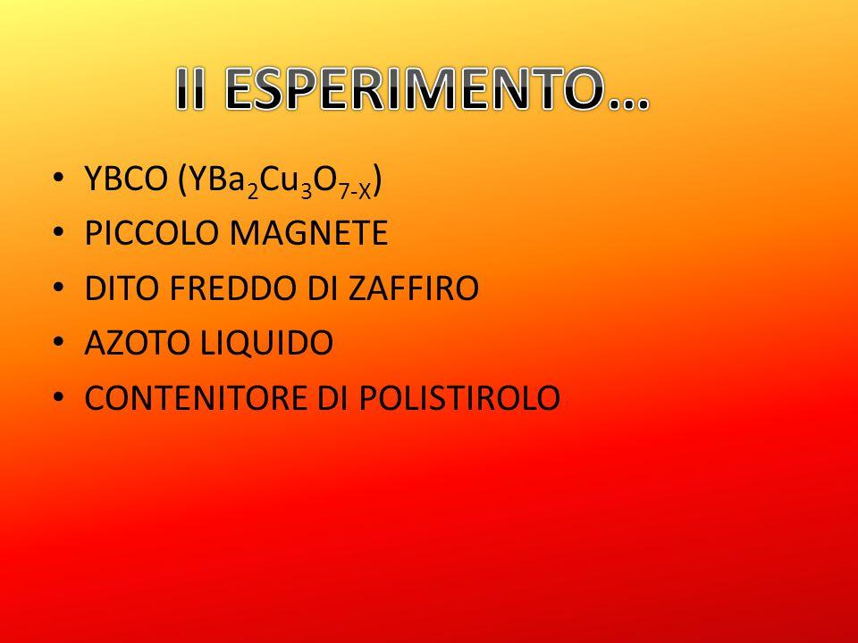YBCO (YBa 2 Cu 3 O 7-X ) PICCOLO MAGNETE DITO FREDDO DI ZAFFIRO AZOTO LIQUIDO CONTENITORE DI POLISTIROLO