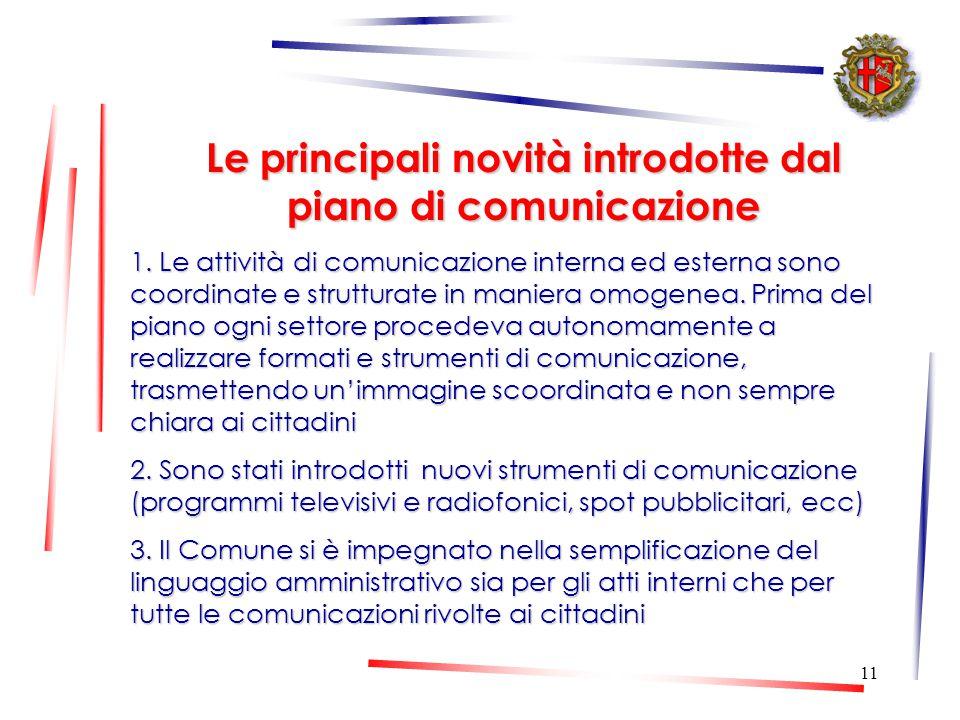 10 Il Piano di comunicazione Strumento per pianificare ed organizzare le attività di comunicazione con le tecniche ed i metodi più idonei per dialogar