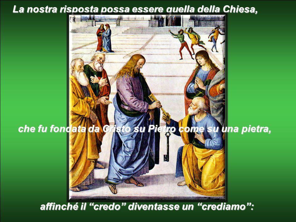 """""""Tu, chi dici che io sia?"""". La nostra risposta possa essere quella di Pietro: """"Tu sei il Cristo, il figlio del Dio vivente""""."""