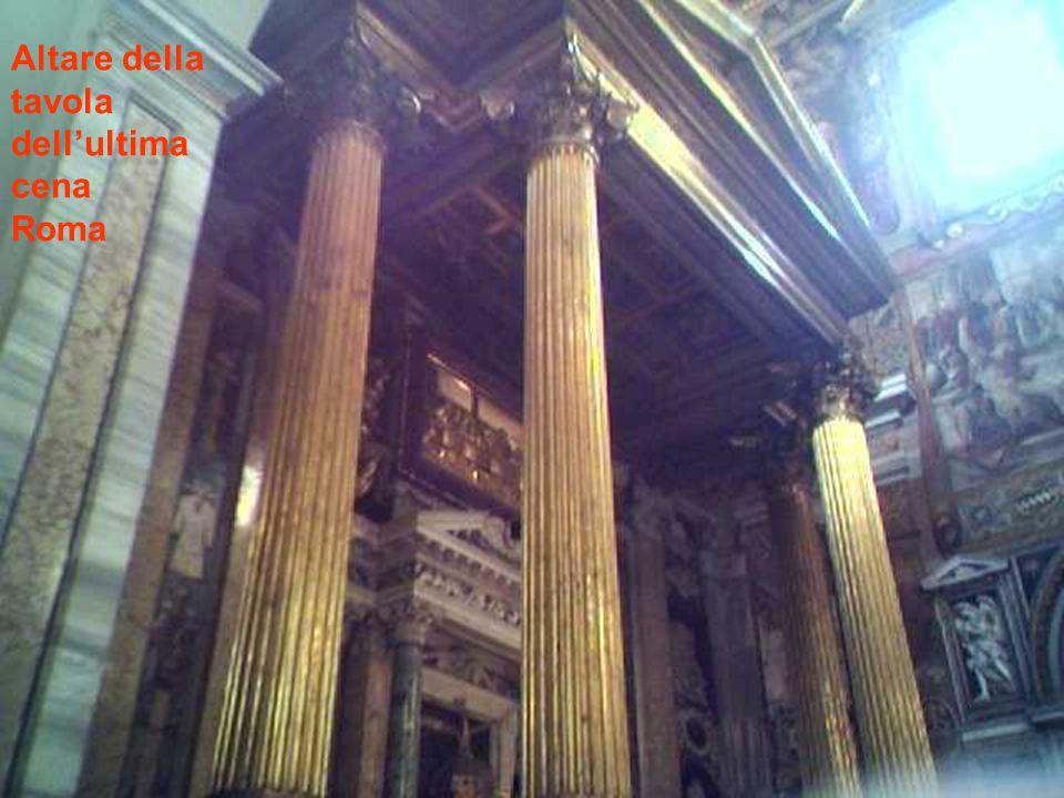 Altare della tavola dell'ultima cena Roma