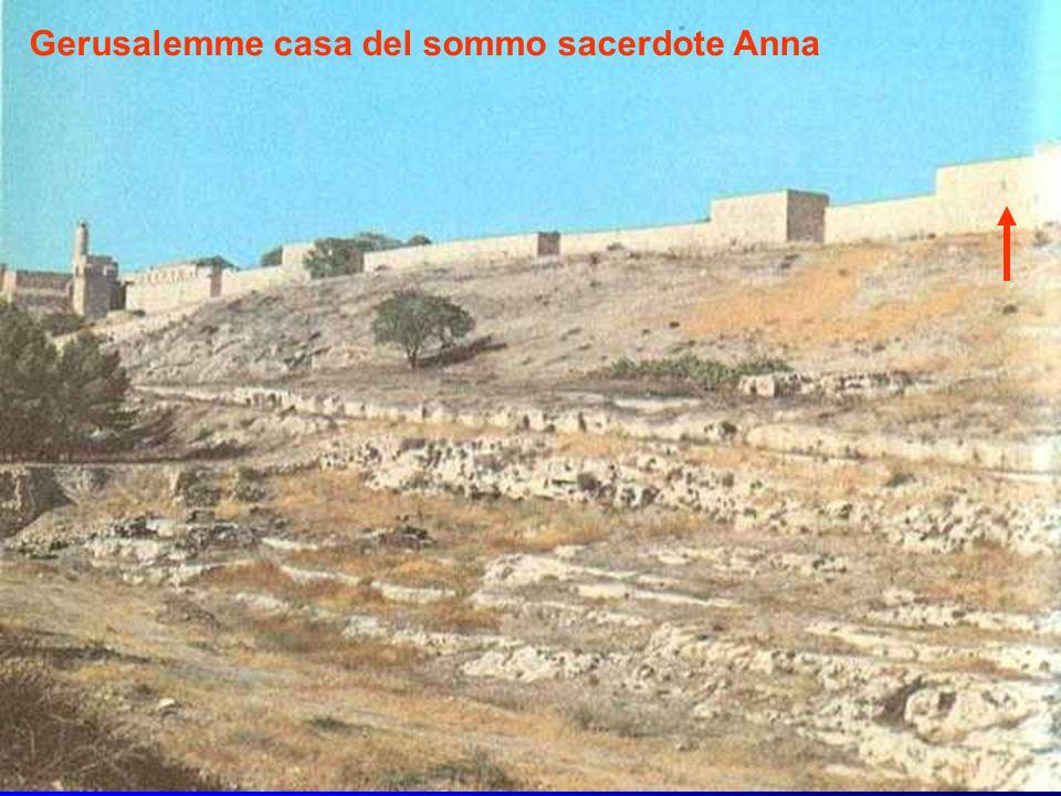 Gerusalemme casa del sommo sacerdote Anna