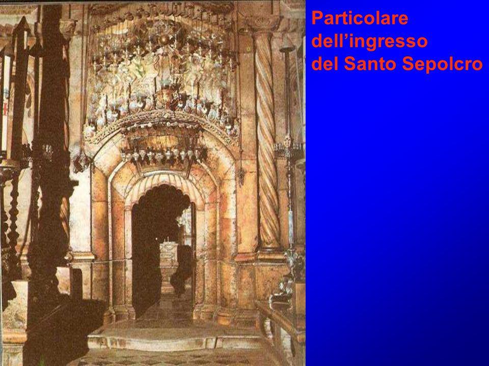 Particolare dell'ingresso del Santo Sepolcro