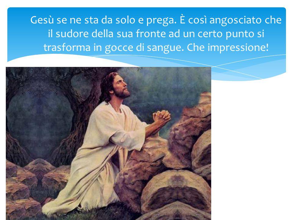 Gesù se ne sta da solo e prega.
